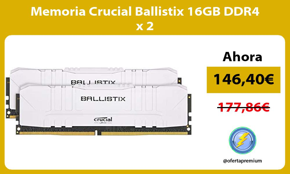 Memoria Crucial Ballistix 16GB DDR4 x 2