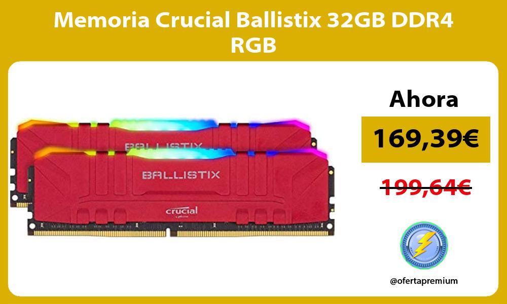 Memoria Crucial Ballistix 32GB DDR4 RGB