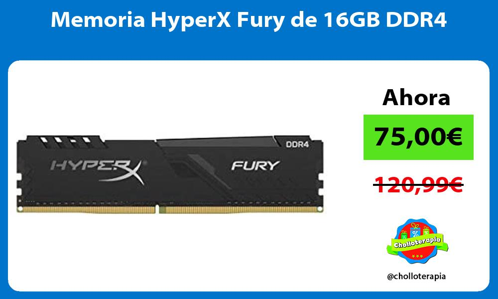 Memoria HyperX Fury de 16GB DDR4