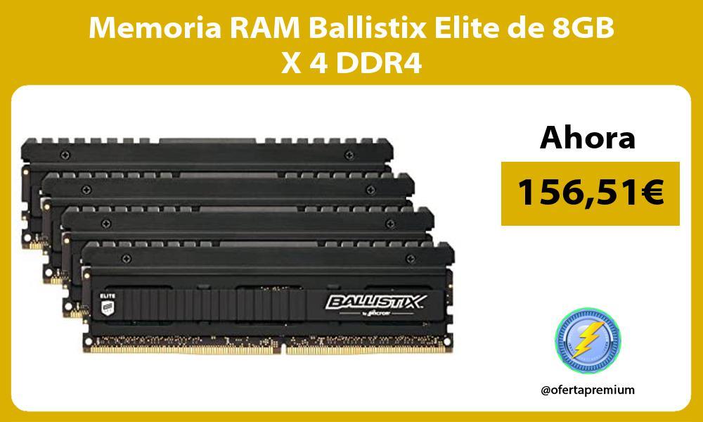 Memoria RAM Ballistix Elite de 8GB X 4 DDR4