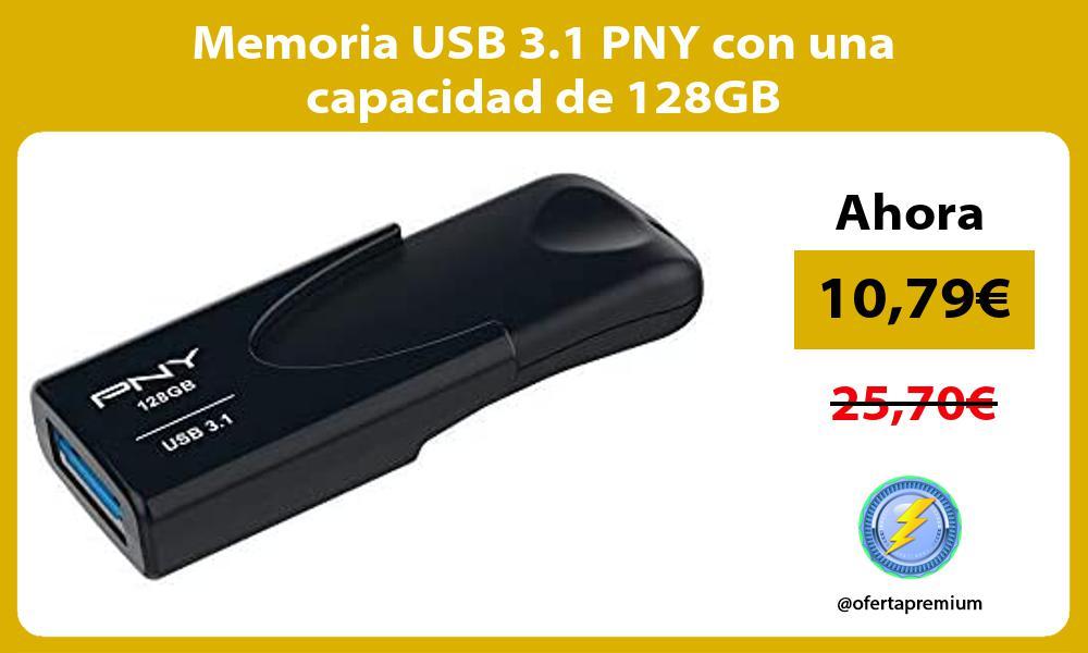 Memoria USB 3 1 PNY con una capacidad de 128GB