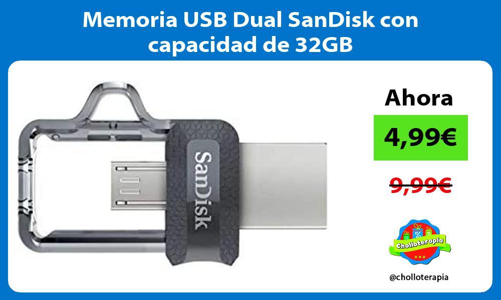 Memoria USB Dual SanDisk con capacidad de 32GB