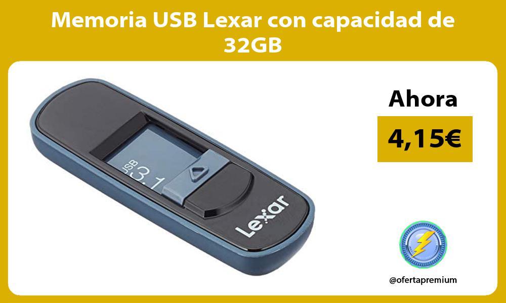 Memoria USB Lexar con capacidad de 32GB