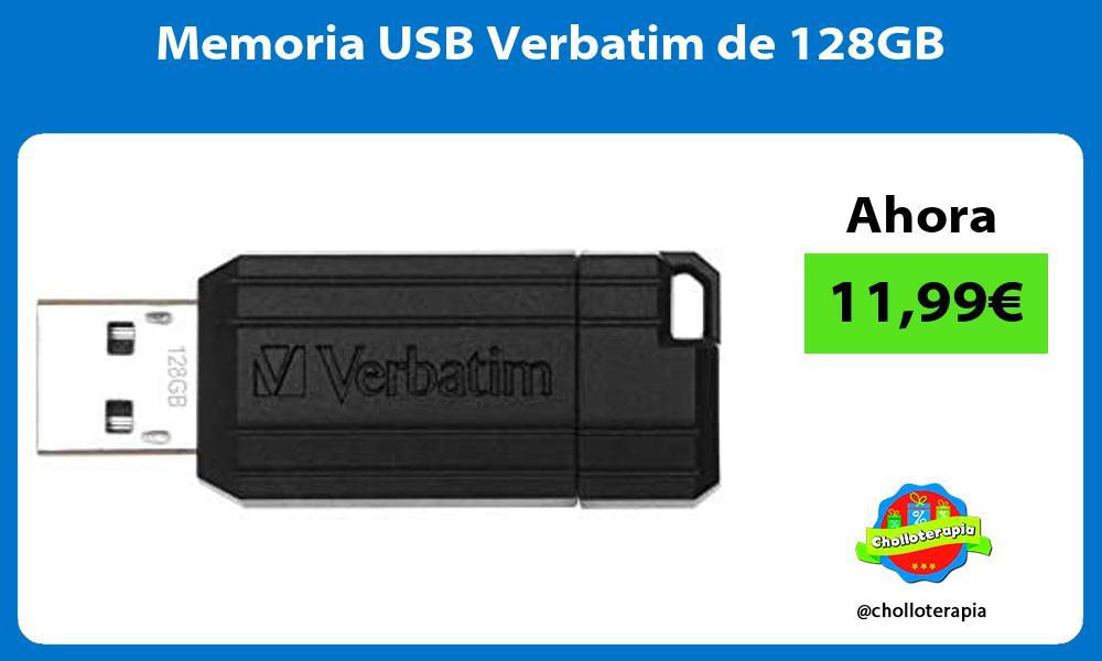 Memoria USB Verbatim de 128GB
