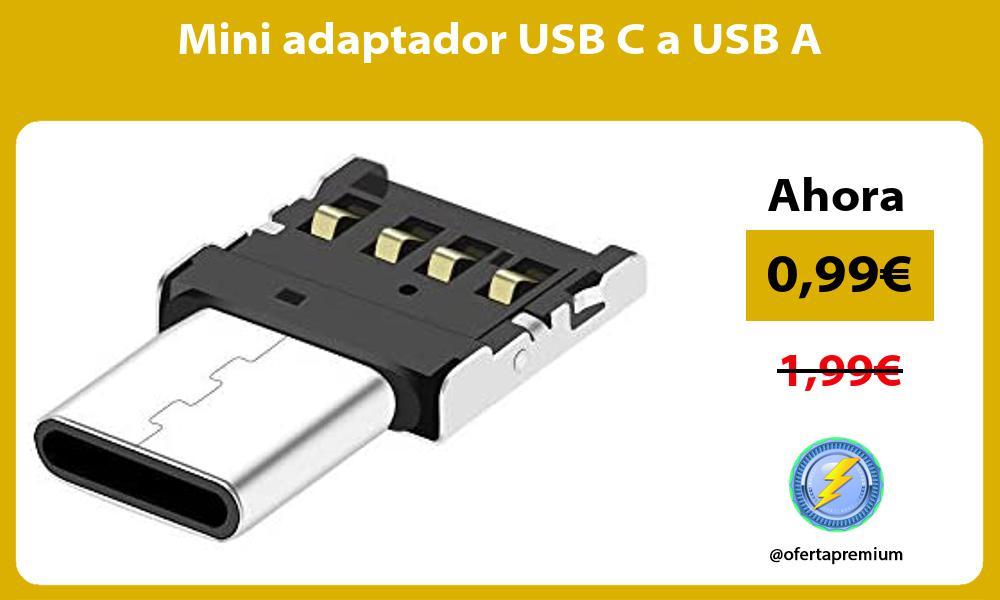 Mini adaptador USB C a USB A