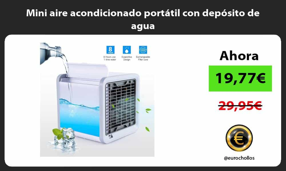Mini aire acondicionado portátil con depósito de agua