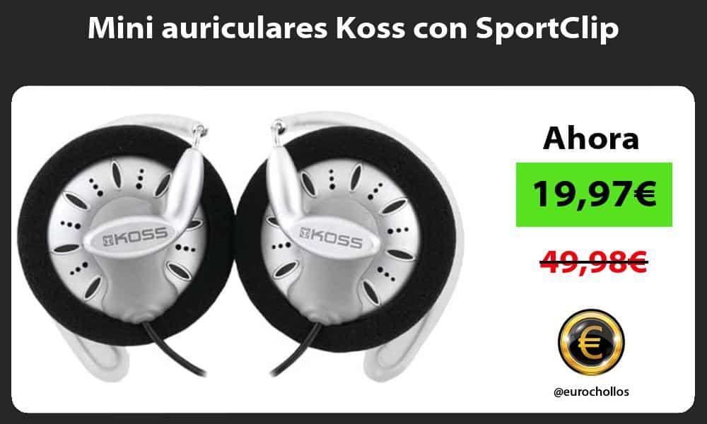 Mini auriculares Koss con SportClip
