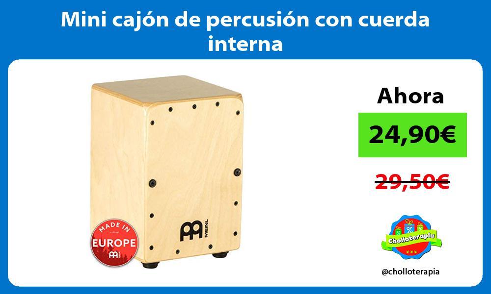 Mini cajón de percusión con cuerda interna