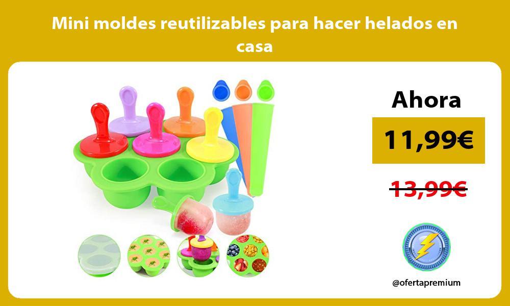 Mini moldes reutilizables para hacer helados en casa