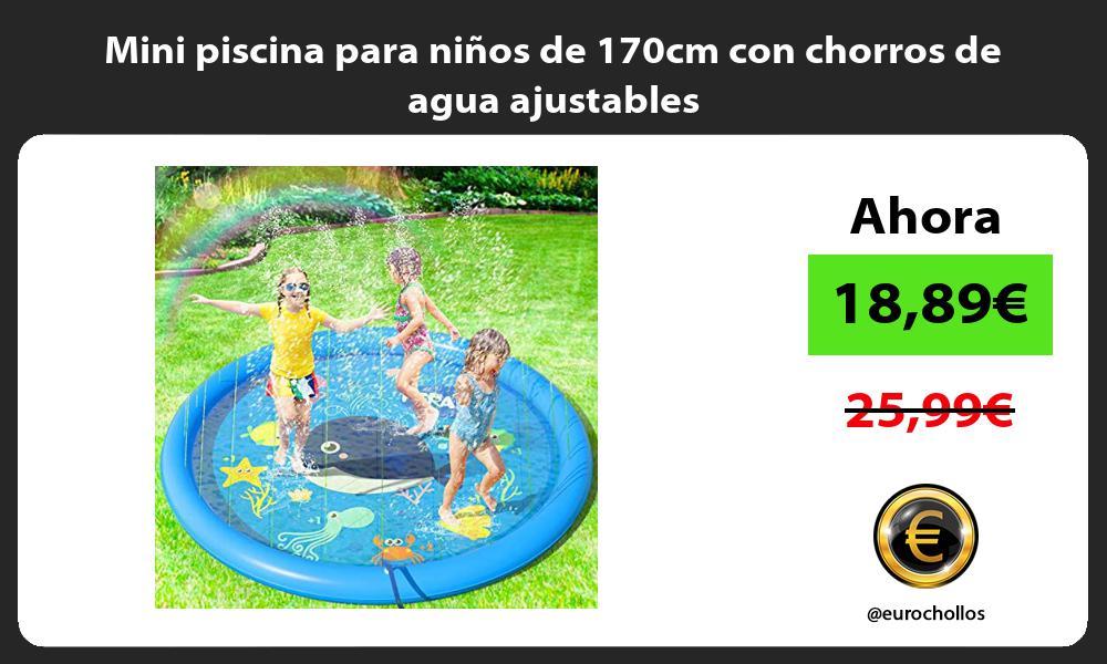 Mini piscina para niños de 170cm con chorros de agua ajustables
