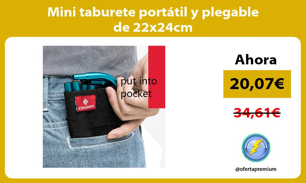 Mini taburete portátil y plegable de 22x24cm