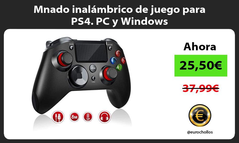 Mnado inalámbrico de juego para PS4 PC y Windows