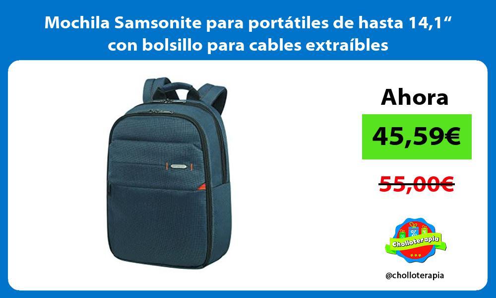 "Mochila Samsonite para portátiles de hasta 141"" con bolsillo para cables extraíbles"