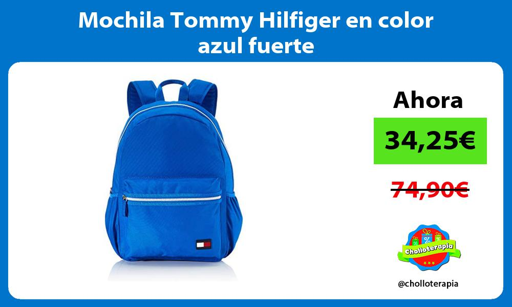 Mochila Tommy Hilfiger en color azul fuerte