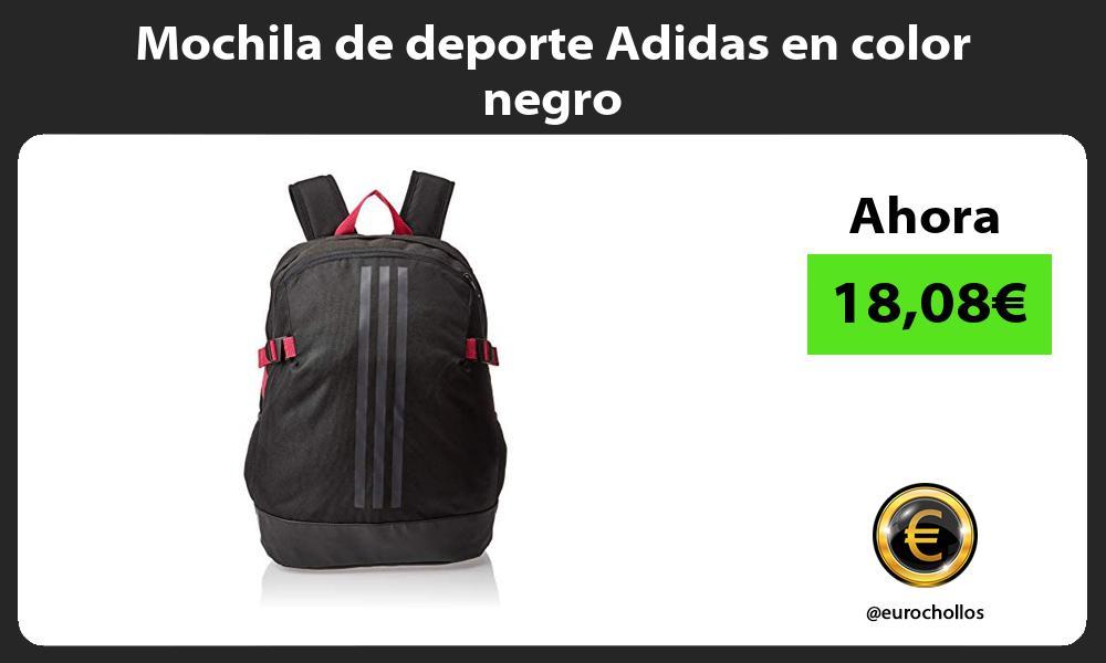 Mochila de deporte Adidas en color negro