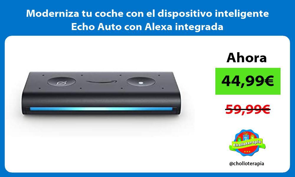 Moderniza tu coche con el dispositivo inteligente Echo Auto con Alexa integrada