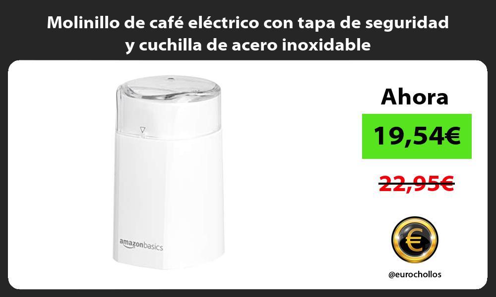 Molinillo de café eléctrico con tapa de seguridad y cuchilla de acero inoxidable