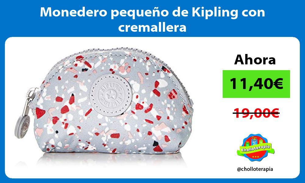 Monedero pequeño de Kipling con cremallera