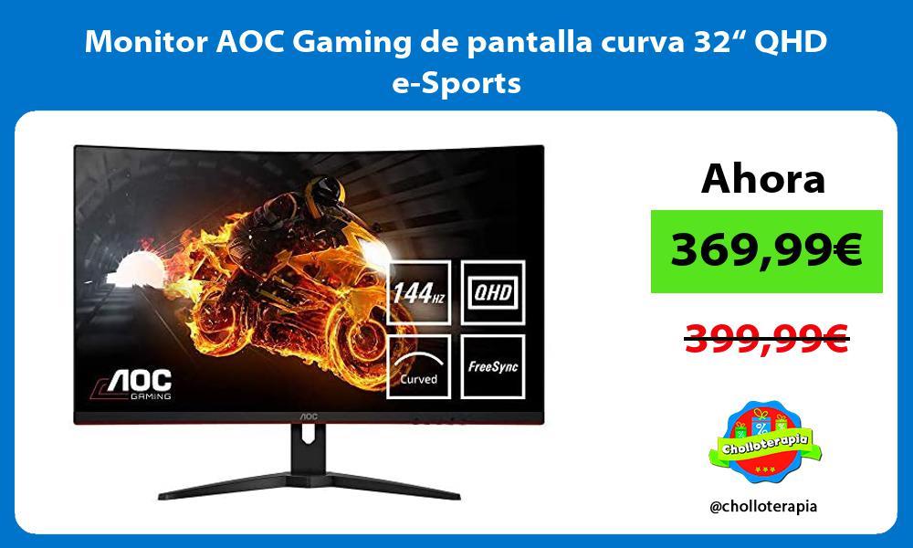 """Monitor AOC Gaming de pantalla curva 32"""" QHD e Sports"""