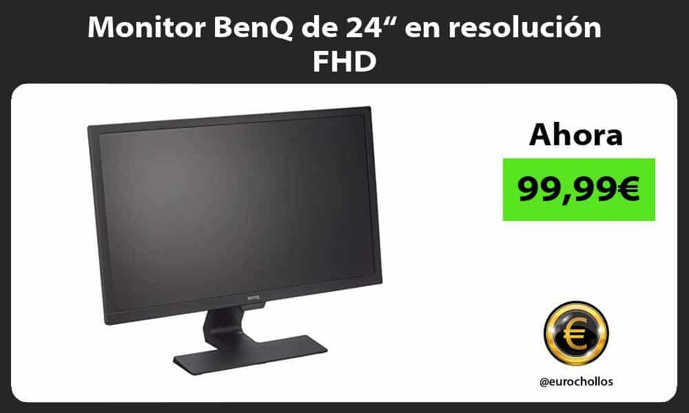 """Monitor BenQ de 24"""" en resolución FHD"""