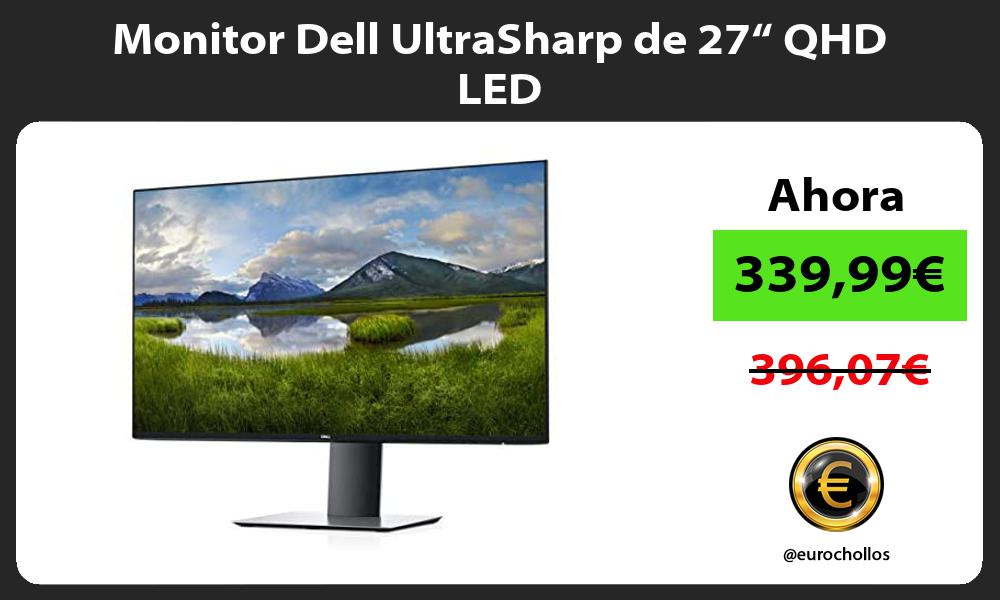 "Monitor Dell UltraSharp de 27"" QHD LED"
