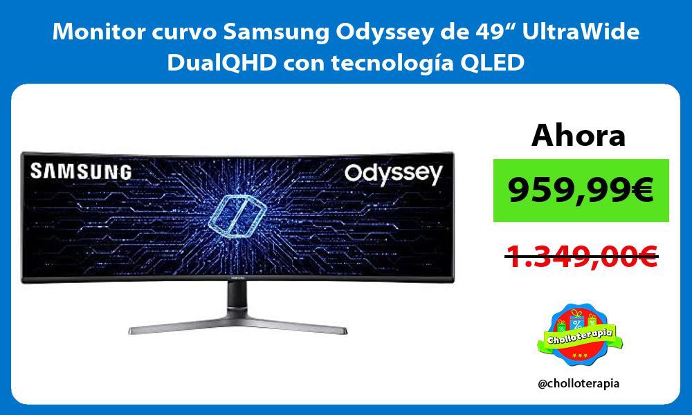 """Monitor curvo Samsung Odyssey de 49"""" UltraWide DualQHD con tecnología QLED"""