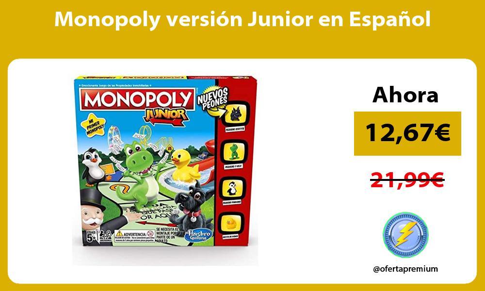 Monopoly versión Junior en Español