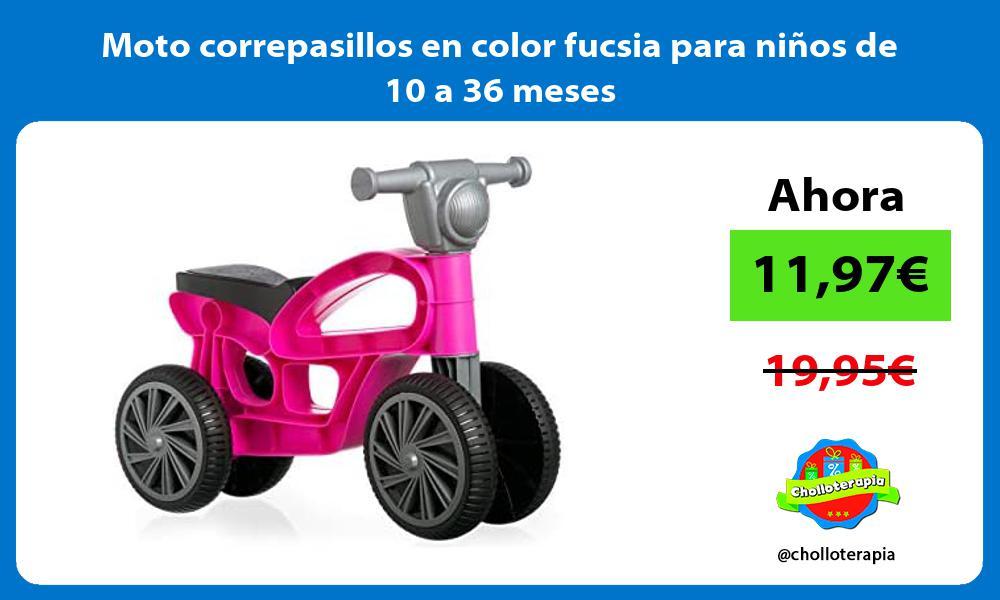 Moto correpasillos en color fucsia para niños de 10 a 36 meses