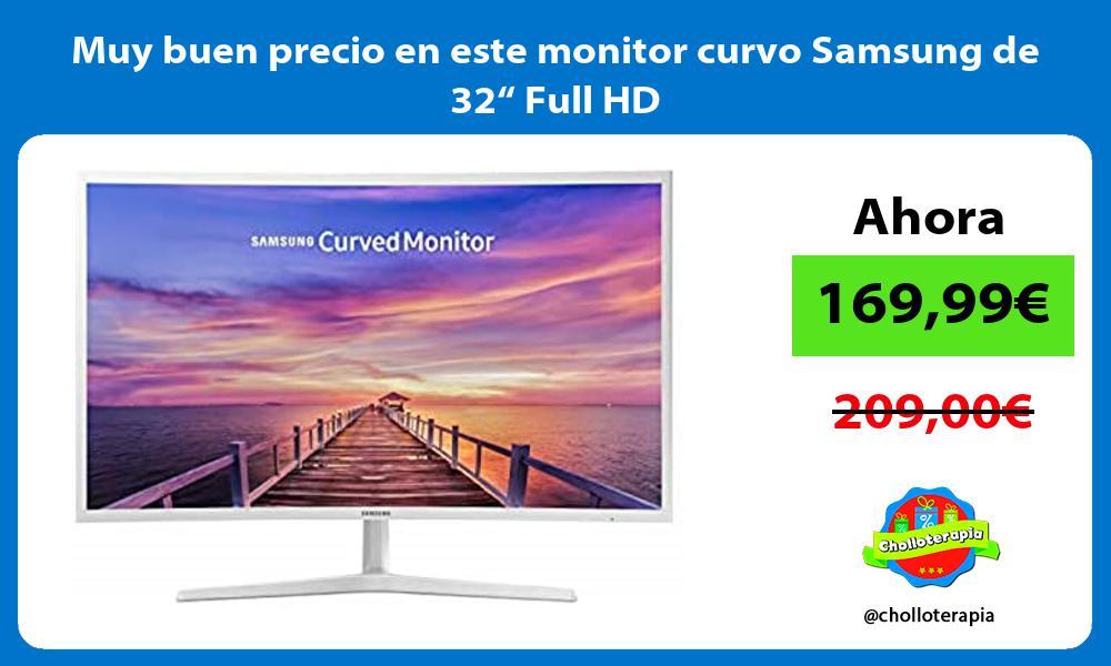 """Muy buen precio en este monitor curvo Samsung de 32"""" Full HD"""