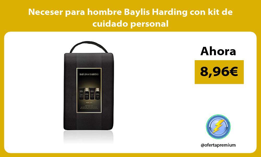 Neceser para hombre Baylis Harding con kit de cuidado personal