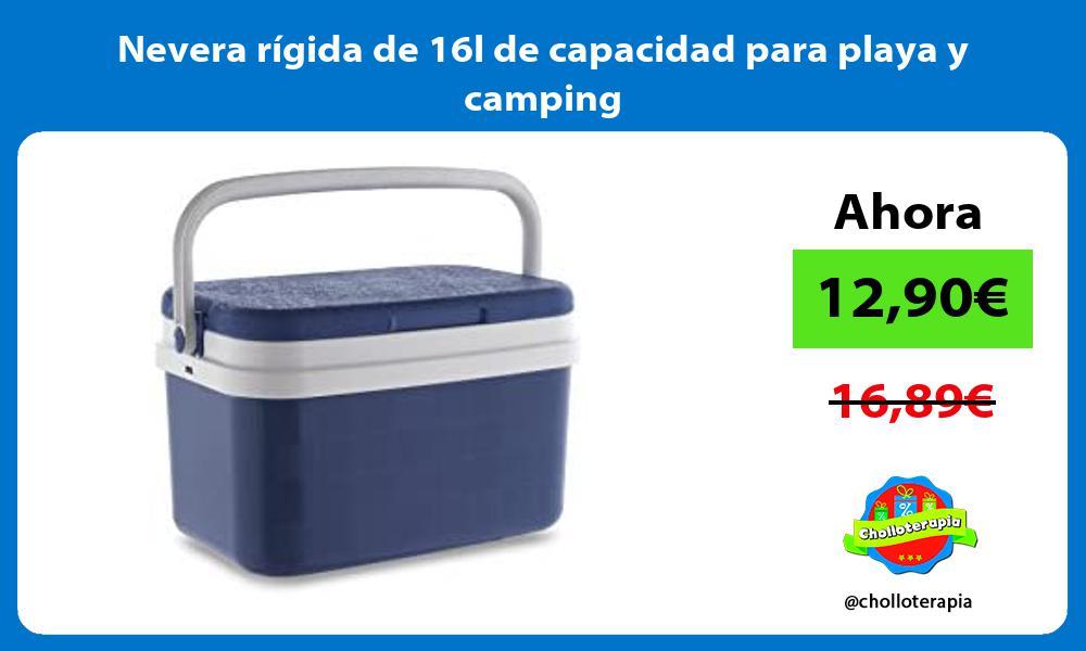 Nevera rígida de 16l de capacidad para playa y camping