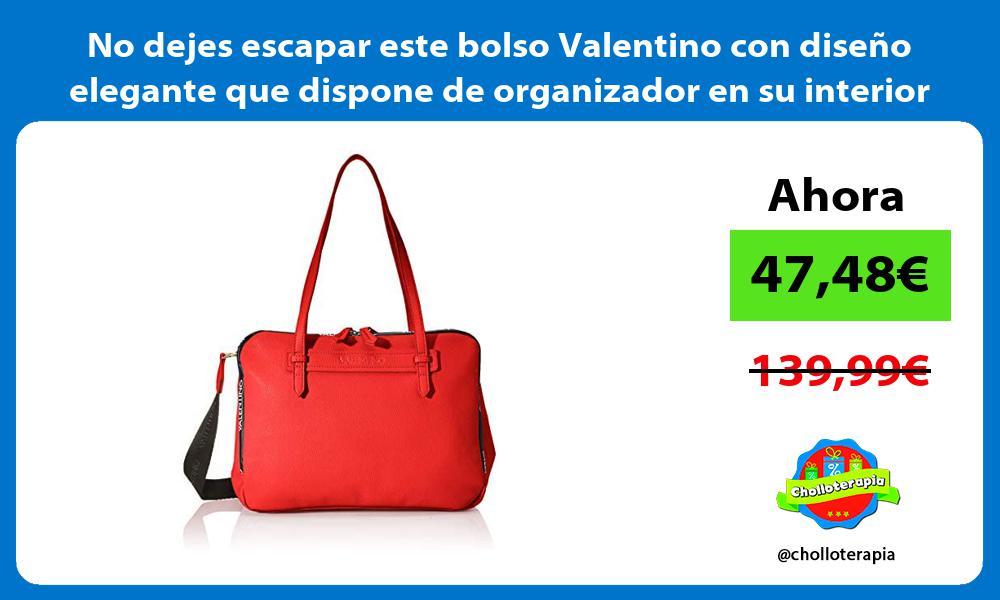 No dejes escapar este bolso Valentino con diseño elegante que dispone de organizador en su interior