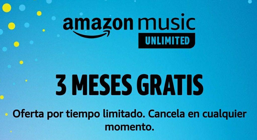 Nueva pedazo de promoción en Amazon Music UNLIMITED en la que disfrutarás de 3 meses de forma gratuita con todo el servicio musical al completo