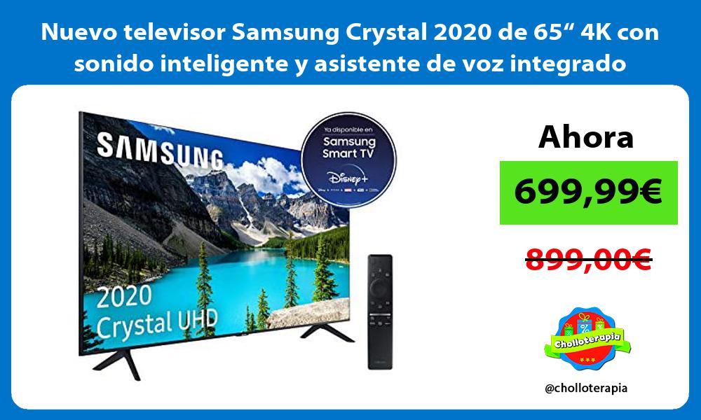 """Nuevo televisor Samsung Crystal 2020 de 65"""" 4K con sonido inteligente y asistente de voz integrado"""
