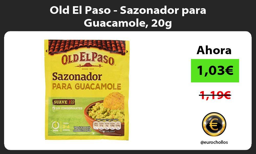 Old El Paso Sazonador para Guacamole 20g