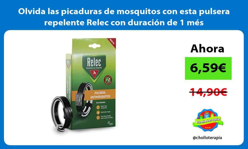 Olvida las picaduras de mosquitos con esta pulsera repelente Relec con duración de 1 més