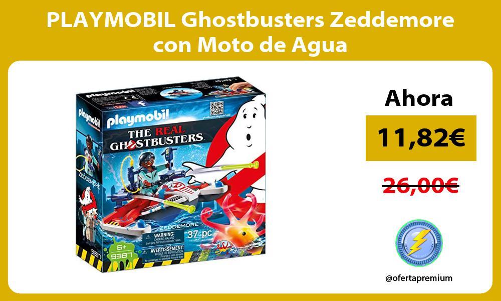 PLAYMOBIL Ghostbusters Zeddemore con Moto de Agua