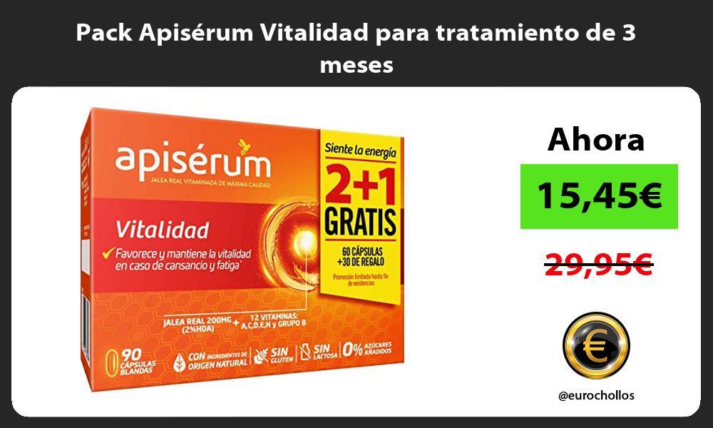Pack Apisérum Vitalidad para tratamiento de 3 meses