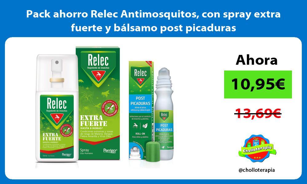 Pack ahorro Relec Antimosquitos con spray extra fuerte y bálsamo post picaduras