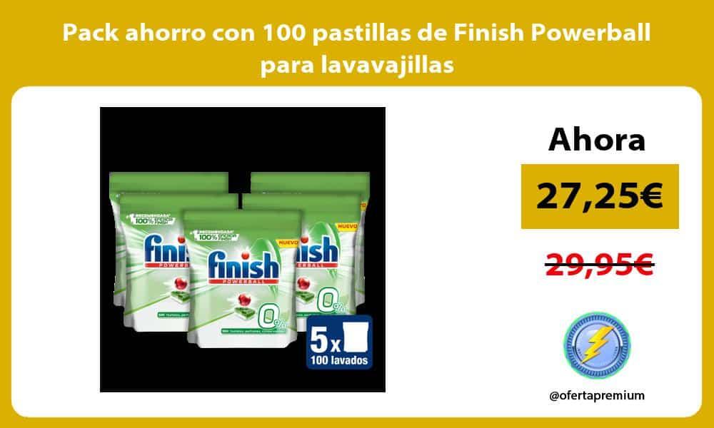 Pack ahorro con 100 pastillas de Finish Powerball para lavavajillas