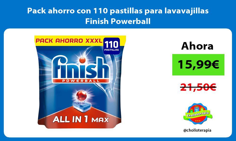 Pack ahorro con 110 pastillas para lavavajillas Finish Powerball