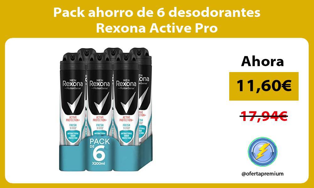 Pack ahorro de 6 desodorantes Rexona Active Pro