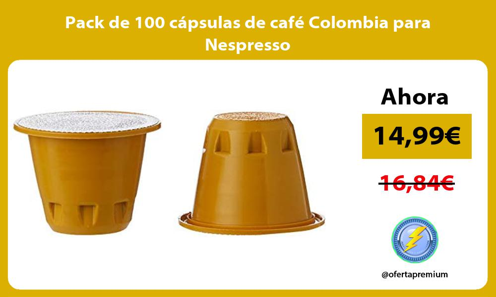 Pack de 100 cápsulas de café Colombia para Nespresso