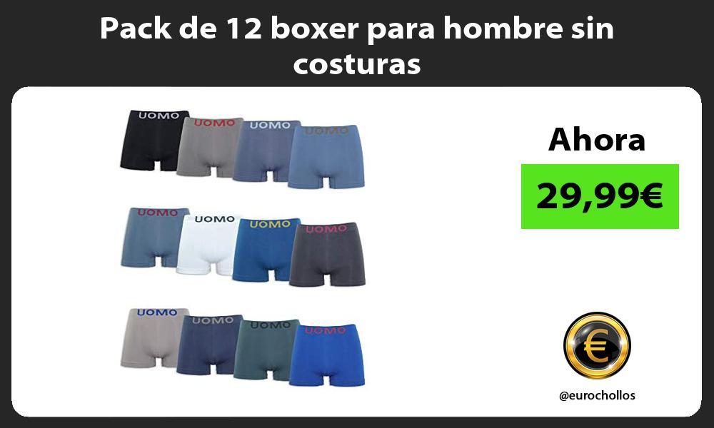 Pack de 12 boxer para hombre sin costuras
