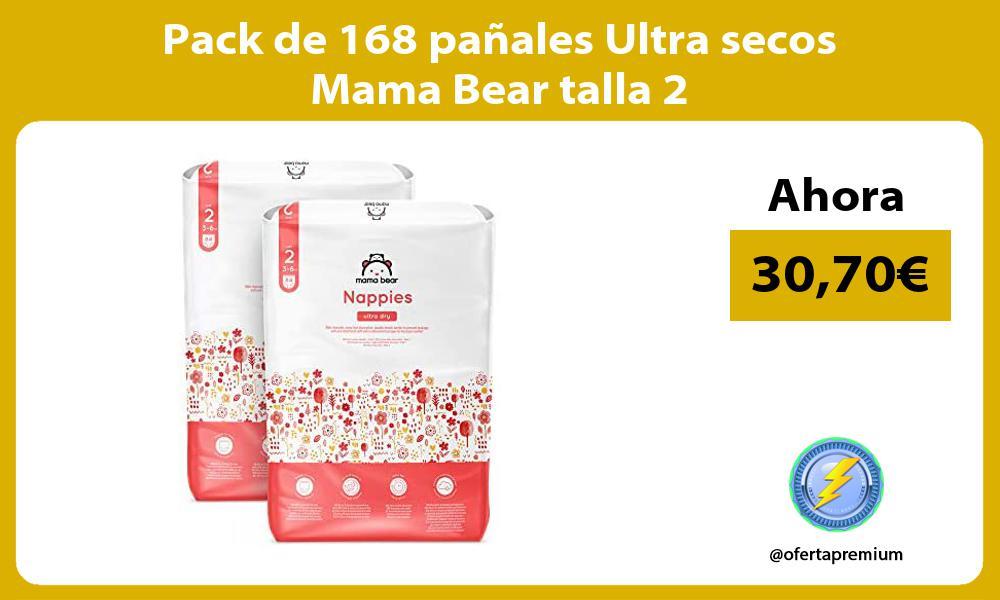 Pack de 168 pañales Ultra secos Mama Bear talla 2