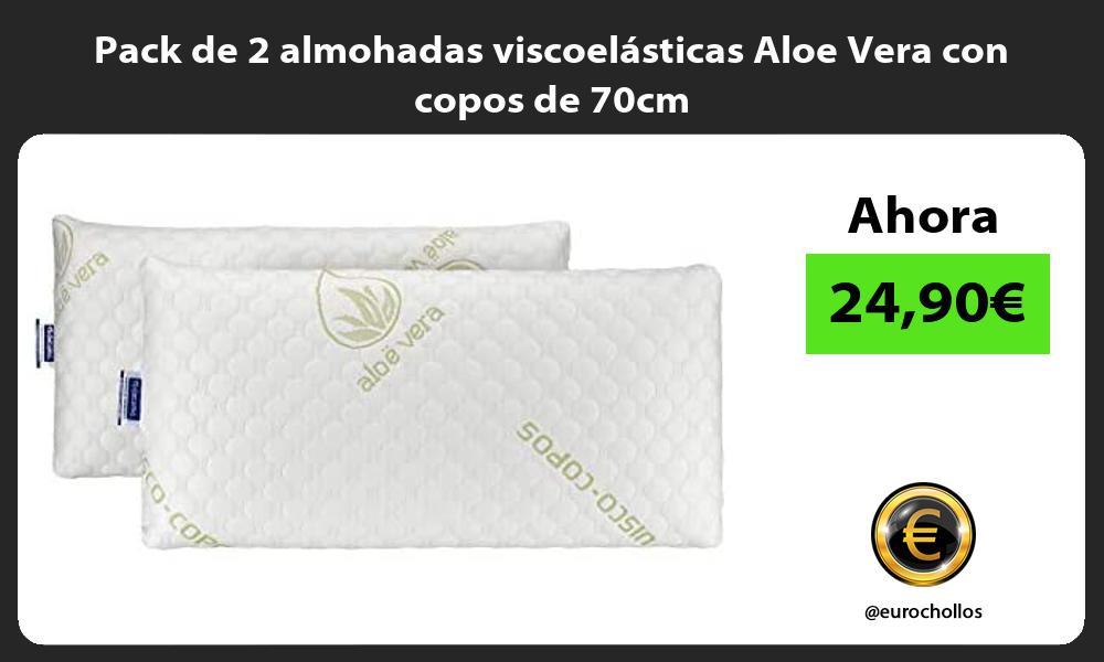 Pack de 2 almohadas viscoelásticas Aloe Vera con copos de 70cm