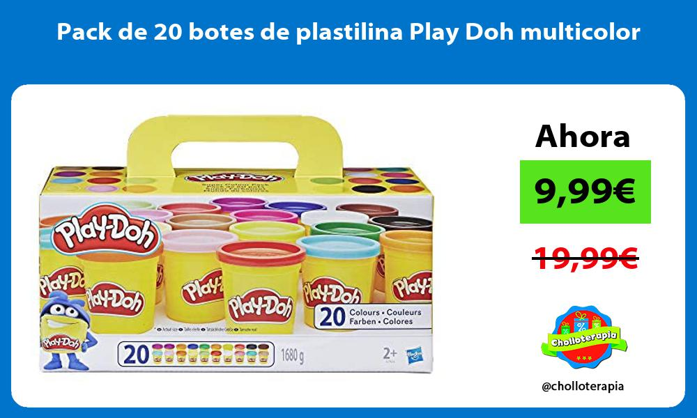 Pack de 20 botes de plastilina Play Doh multicolor