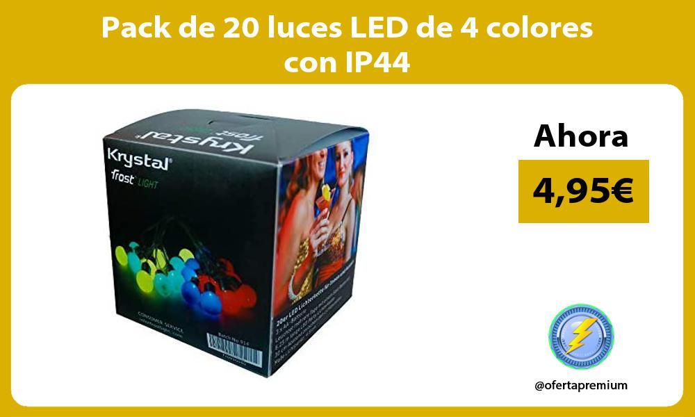 Pack de 20 luces LED de 4 colores con IP44