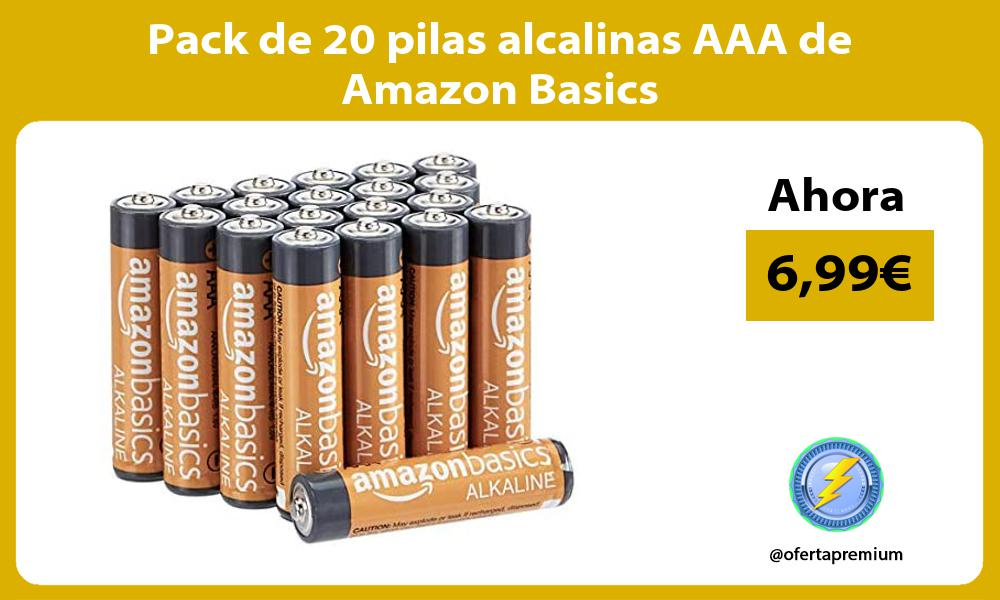 Pack de 20 pilas alcalinas AAA de Amazon Basics