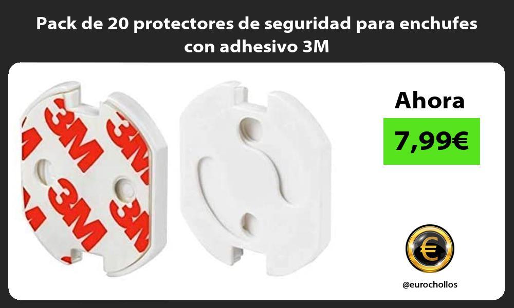 Pack de 20 protectores de seguridad para enchufes con adhesivo 3M